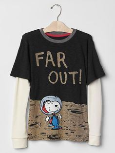 GapKids + Peanuts® 2-in-1 graphic tee - The gangs all here! Catch the limited time GapKids + Peanuts® collection of cool classics and new favorites.