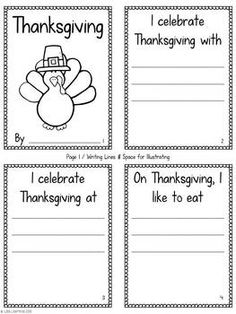 Students will love making this simple and cute accordion-fold mini-book to tell about how they celebrate Thanksgiving.