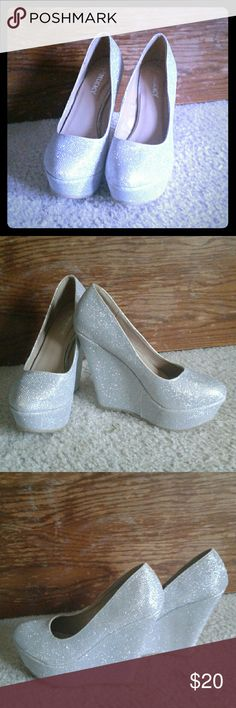 Delicacy wedge heels Silver Shoes Wedges