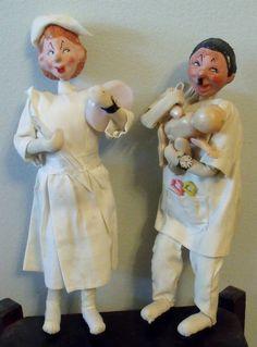 Vintage doctor and nurse dolls  Similar to Roldan  by wonderdiva, $30.00
