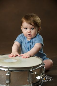 Newborn and Infant Photography | Baton Rouge Baby with drums!