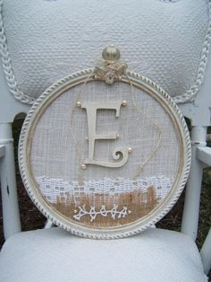Vintage Angel Shabby Chic Monogramed Frame Free Shipping. $35.00, via Etsy.
