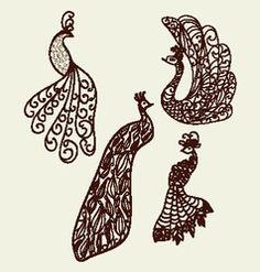 Decorative ornamental peacock vector