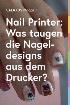 Was, wenn du dir jedes erdenkliche Motiv auf die Nägel drucken könntest, ganz ohne selbst zu pinseln? Der Nagelprinter von O'2 Nails macht's möglich. Behauptet zumindest der Hersteller. Ob der Drucker das Versprechen tatsächlich hält, erfährst du in Natis Testbericht. Nail Art Diy, Diy Nails, Nail Printer, Queens, Beauty, Gourmet Cooking, Printing, Beauty Illustration, Thea Queen