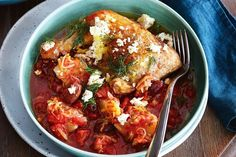 Nothing says comfort food like a casserole-roasted chicken. Recipe by Liz Egan.