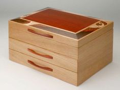 Heartwood Creations has been making finely crafted handmade jewelry boxes since Every custom wooden box is made in our shop in Rockford, Illinois. Custom Wooden Boxes, Wooden Jewelry Boxes, Wave Jewelry, Secret Box, Handmade Jewelry Box, Wave Design, Woodworking Techniques, Diy Box, Wood Boxes