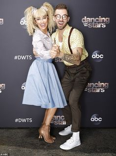 Terrific tango:The Bachelorette star Kaitlyn Bristowe, 35, and her pro parter Artem Chigvintsev, 38, later performed a tango to the Tiffany song I Think We're Alone Now