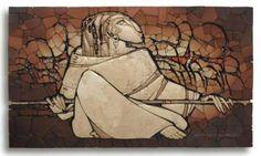 Stone mosaic by Russian stone carver and mosaic artist Sergey Karlov