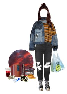 """// wasting"" by stfu-its-becky ❤ liked on Polyvore featuring Dolce&Gabbana, Converse, Topshop and Sarah's Bag"