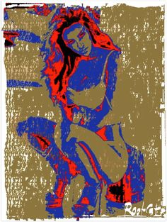 8 #ART #LOVE #BYTES #LADIES by #RootCat — http://pinterest.com/rootcat/rootcat-japanese-handprints/ — Handprint : 245x335mm 20gr. Chinese Ink. Very thin traditional japanese paper, almost translucent, natural yellow, based on mashed young bamboo shoots, fabricated manually in the vat in China (Fujian) — snapshots 2013