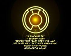 yellow lantern oath - Google Search