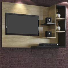 Home Simbal Sleep Acapulco com Painel para TV LCD - Imbuia/Preto - Racks no Pontofrio.com