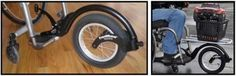 Cool attachment for wheelchairs, to lift the small casters off the ground, allowing more maneuverability.