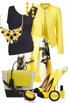 Beautiful..loving this yellow and black