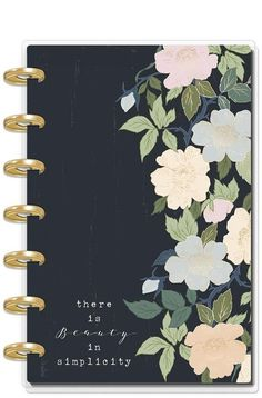 Happy Planner notepad insert for mini classic or large size planner red roses design notepad dashboard
