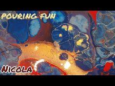 Pouring 40: Gigantische Zellen und knalliges Gold, Test: GOLDEN GLOSS MEDIUM (deutsch) - YouTube Diy Arts And Crafts, Acrylic Pouring, Medium, Art Tutorials, Gold, Bright, Crafty, Fun, Painting