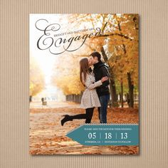 Save the Date Card -  Modern Engagement Announcement - 100 Cards or Postcards. $99,00, via Etsy.