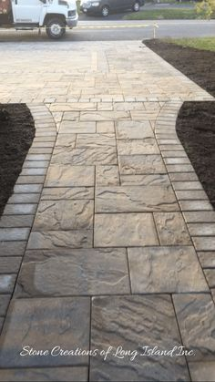 Make a small backyard beautiful with simple paver patio ideas. Learn how to build it yourself (DIY) and get your cheap brick pavers patterns designs cost ideas to personalize your new comfortable space. Outdoor Walkway, Paver Walkway, Front Walkway, Brick Pavers, Backyard Patio, Backyard Landscaping, Walkway Ideas, Pavers Ideas, Driveway Pavers