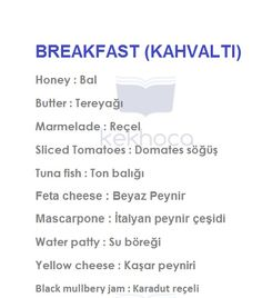 breakfast English Idioms, English Literature, English Lessons, English Grammar, Learn English Kid, English Time, English Course, Vocabulary Journal, Turkish Lessons