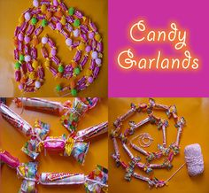 I want candy garland in the doorways but not this complicated...