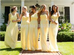 bridesmaid dresses pale yellow - Google Search                                                                                                                                                                                 More