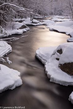 new snow on the river at dawn, North Branch, MN by L Bickford, on Flickr