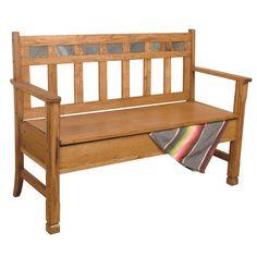 Sunny Designs Sedona Wood Storage Bench & Reviews | Wayfair