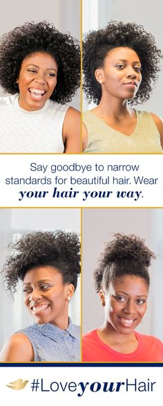 8 out of 10 women feel pressure to wear their hair a certain way.* Dove Hair believes you should wear your hair YOUR way—even if your way changes every day! See how women like Shanice are helping us redefine beautiful hair at Pinterest.com/DoveHair. #LoveYourHair *Dove Hair Study conducted by Edelman Intelligence, December 2015