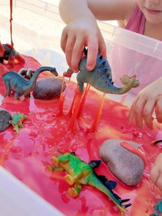 Lava Slime for your Preschool Dinosaur Theme -You can find Dinosaur activities and more on our website.Lava Slime for your Preschool Dinosaur Theme - Dinosaur Theme Preschool, Preschool Rooms, Preschool Themes, Preschool Science, Preschool Classroom, Preschool Crafts, Dinosaur Dinosaur, Daycare Curriculum, Preschool Printables