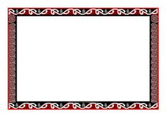 Maori art-themed page borders - SparkleBox