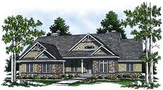 Plan W89212AH: Corner Lot, Craftsman, Cottage, Country House Plans & Home Designs