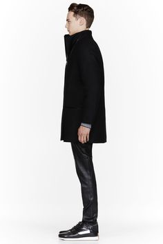 RAD BY RAD HOURANI Black Padded Convertible Unisex coat