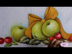 Pintura em tecido - Eliane Nascimento: Pintura natalina. - YouTube