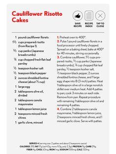 Cauliflower Risotto Cakes