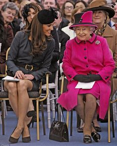 The Duchess says that the Queen gave her gentle guidance towards being in the public eye a...