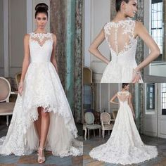 Wedding Gown Designs Plus Size Lace A Line Wedding Dresses 2016 High Low Court Train Summer Beach Bridal Gowns Bateau Neck Sheer Buttons Back Alternative Wedding Dresses From Marrysa, $139.95| Dhgate.Com