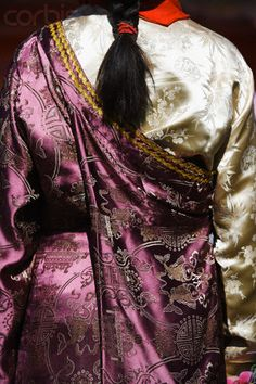 Gorgeous Silk Brocade clothing.  Tibet