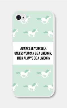 Mint Green Unicorn iPhone Case Always Be Yourself