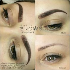 Microblading+Ombre. Permanent makeup Www.balticbrows.com Balticbrows@gmail.com