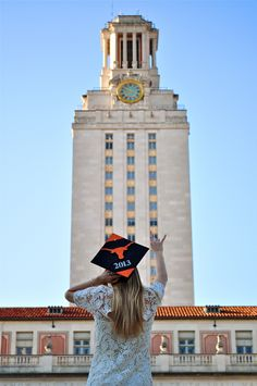 Graduation photo | The University of Texas #austin #hookem #tower