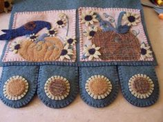Cath's Pennies Designs: How to Attach Those Penny Rug Tongues?