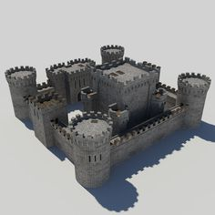 Medieval Castle Pack 1 - Tower Gatehouse Keep Model available on Turbo Squid, the world's leading provider of digital models for visualization, films, television, and games. Minecraft Designs, Minecraft Ideas, Castle House Plans, Castle Silhouette, Conan Exiles, Star Wars Drawings, Minecraft Architecture, Fantasy Art Landscapes, Gundam Art