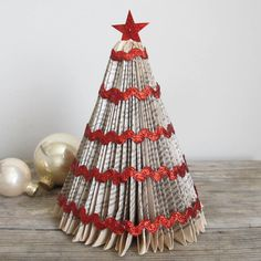 Folded Book Tree