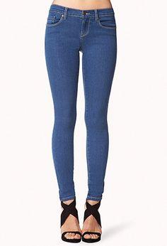 Five Pocket Skinny Jeans | FOREVER 21 - 2000040017