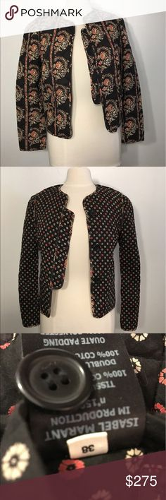 Isabel Marant Etoile Reversible Jacket Isabel Marant Etoile reversible jacket, size 38  (euro sizes) US size 8 - fits M/L. Never worn & doesn't fit me! Love this jacket and so cute on. Brand new. Offers accepted ☀️🤗 Isabel Marant Jackets & Coats