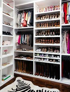 brighton keller new home closet reveal shoe organization