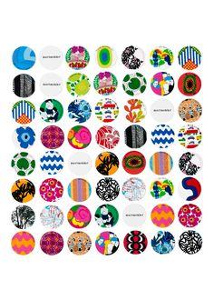 Marimekko Memory Game - Crate and Barrel Design Shop, Bottle Cap Necklace, Bottle Caps, Scandinavia Design, Shops, Fabric Ottoman, Memory Games, Matching Games, Crate And Barrel
