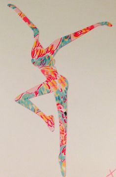 Lilly Pulitzer Inspired Fire Dancer Decal- etsy shop teal and dooley