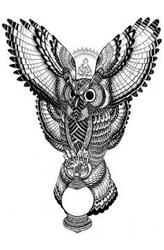 Awesome owl design #tattoo
