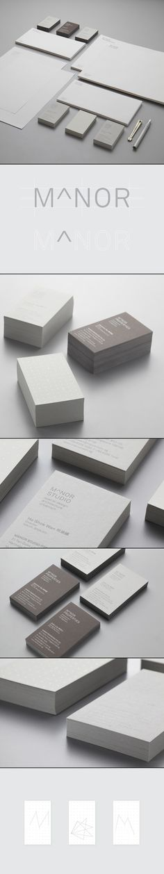 Manor Studio logo design, stationary and identity via Behance.
